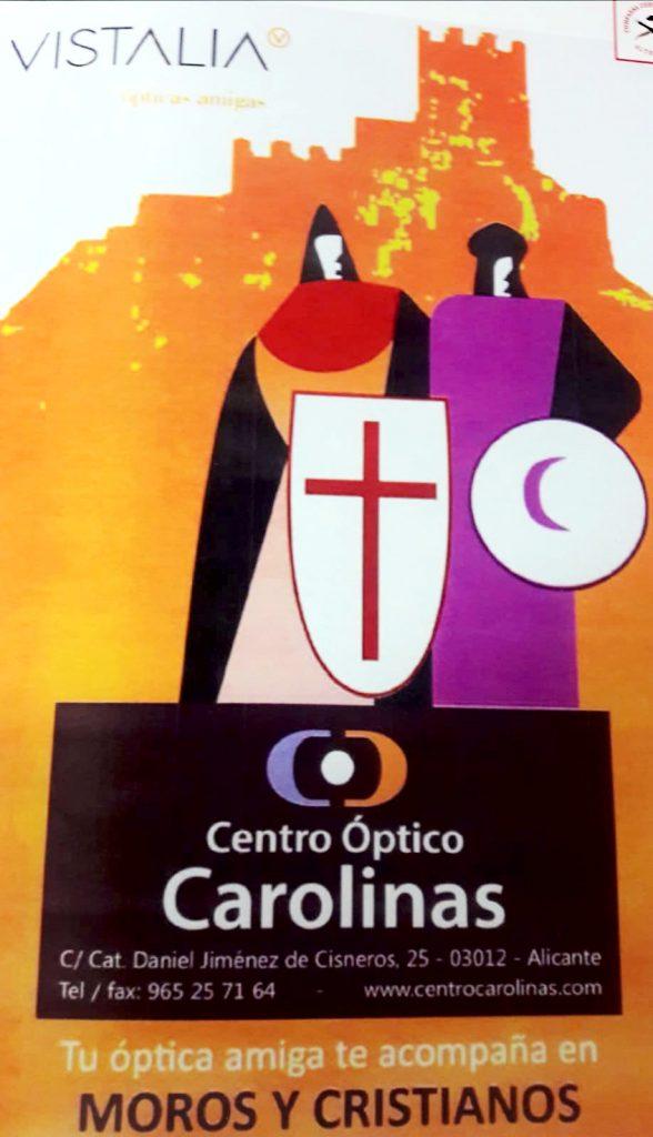 Centro Óptico Carolinas con los Moros y Cristianos